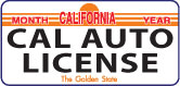 CAL AUTO LICENSE